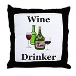 Wine Drinker Throw Pillow