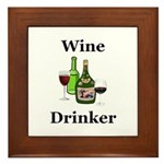 Wine Drinker Framed Tile