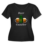 Beer Guz Women's Plus Size Scoop Neck Dark T-Shirt