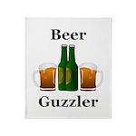 Beer Guzzler Throw Blanket