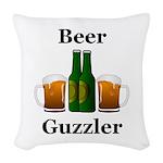 Beer Guzzler Woven Throw Pillow