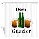 Beer Guzzler Shower Curtain