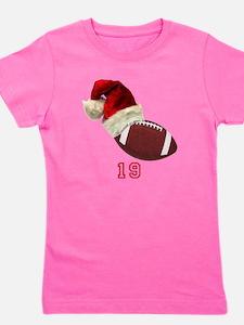 Football Santa Girl's Tee