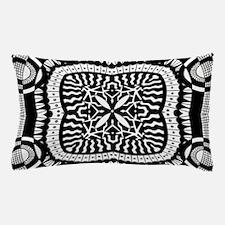 Retro Black and White Pattern Pillow Case