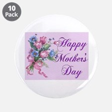 "happy mothers day 3.5"" Button (10 pack)"