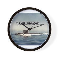Cute Military navy veteran Wall Clock