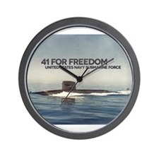 Cute Navy dolphins Wall Clock