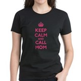 Keep calm and call mom Women's Dark T-Shirt