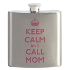 Keep Calm and Call Mom Flask