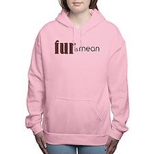 Fur Is Mean Women's Hooded Sweatshirt