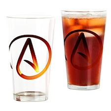 Hot Atheist Symbol Drinking Glass