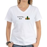 Fueled by Beer Women's V-Neck T-Shirt