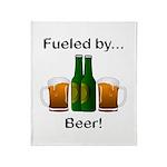 Fueled by Beer Throw Blanket