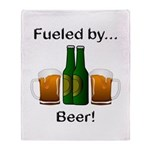 Fueled by Beer Throw Blanket