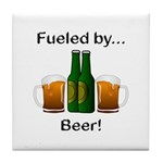 Fueled by Beer Tile Coaster