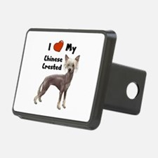 Chinese Crested I Love My Hitch Cover