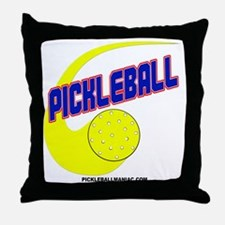 Pickleball Swoosh Throw Pillow