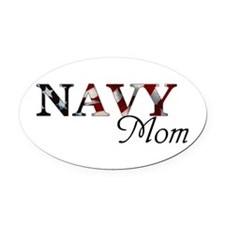 Mom Navy_flag .png Oval Car Magnet