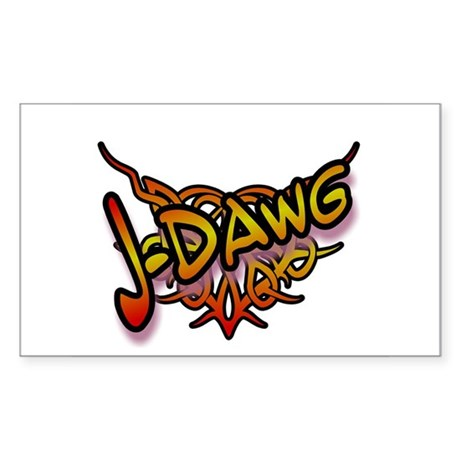 J-Dawg Rectangle Sticker
