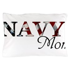 Mom Navy_flag .png Pillow Case