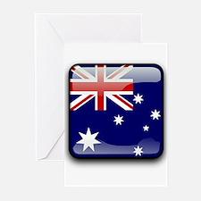 Flag of Australia Greeting Cards
