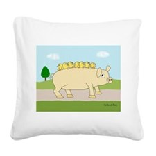 School Bus Square Canvas Pillow