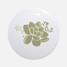 Succulents Base Ornament (Round)