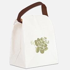 Succulents Base Canvas Lunch Bag