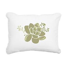 Succulents Base Rectangular Canvas Pillow