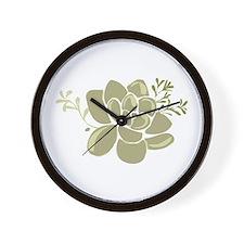 Succulents Base Wall Clock
