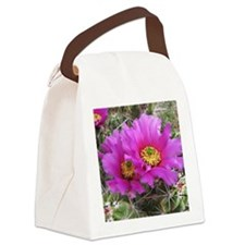 Purple Pitaya Blooms Canvas Lunch Bag