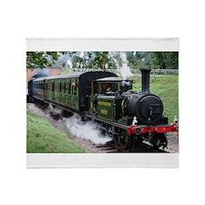 Steam Train Throw Blanket