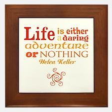 Daring Life Framed Tile
