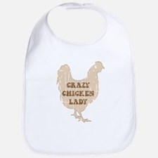 Crazy Chicken Lady Bib