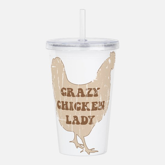 Crazy Chicken Lady Acrylic Double-wall Tumbler