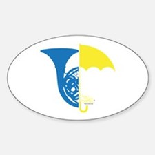 HIMYM French Umbrella Sticker (Oval)