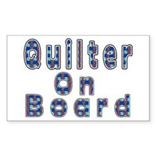 Quilter On Board Rectangle Stickers