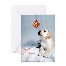 Cute Lab xmas Greeting Card