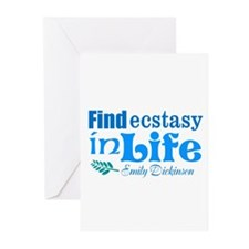Ecstasy in Life Greeting Cards
