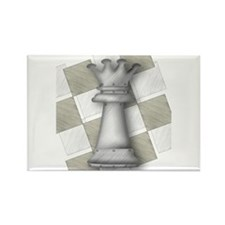 Chess The Most Poweful Piece Rectangle Magnet