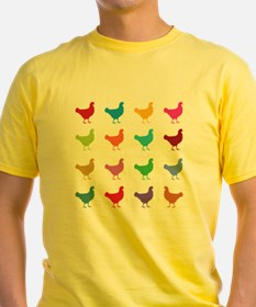 Colorful Chickens T-Shirt