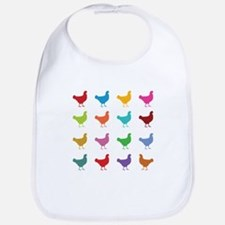 Colorful Chickens Bib