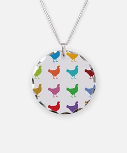 Colorful Chickens Necklace