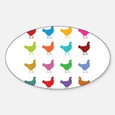 Colorful Chickens Decal