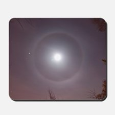 ­22° Halo Around the Moon Mousepad
