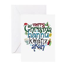 Merry Chrismahannukwanzakah Greeting Cards