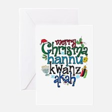 Merry Chrismahannukwanzakah Greeting Cards