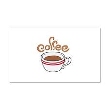 HOT COFFEE Car Magnet 20 x 12