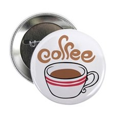 "HOT COFFEE 2.25"" Button (10 pack)"