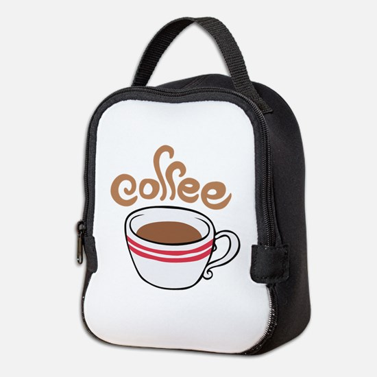 HOT COFFEE Neoprene Lunch Bag